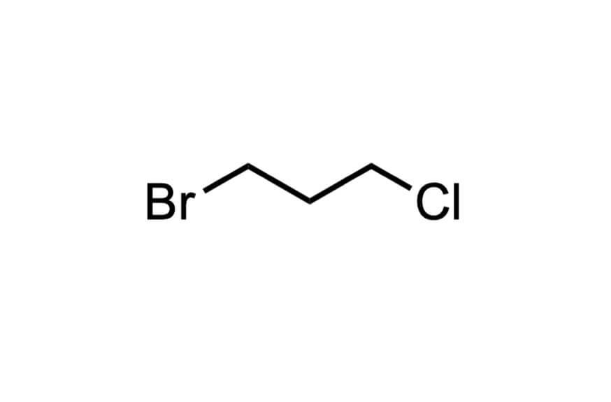 1-ブロモ-3-クロロプロパンの構造式