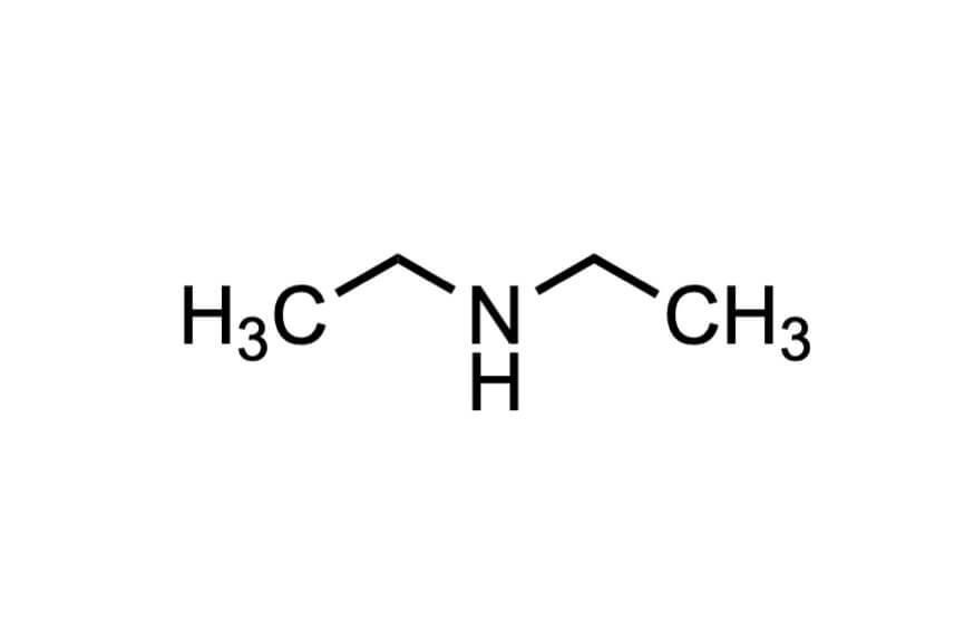 ジエチルアミンの構造式