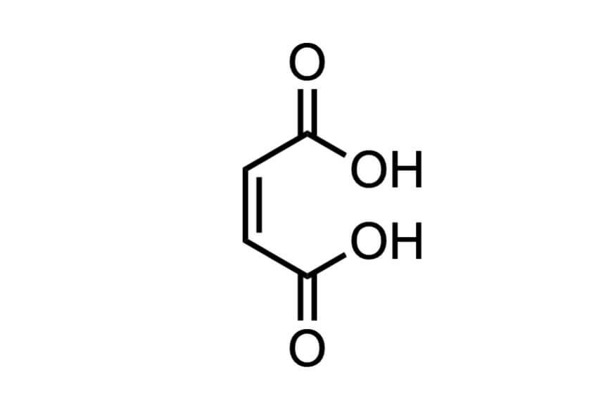 マレイン酸の構造式