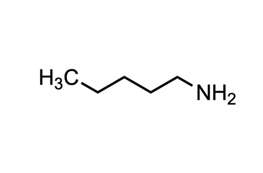 1-アミノペンタンの構造式
