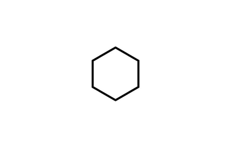シクロヘキサンの構造式