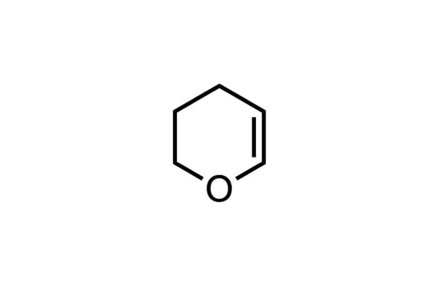 3,4-ジヒドロ-2H-ピランの構造式