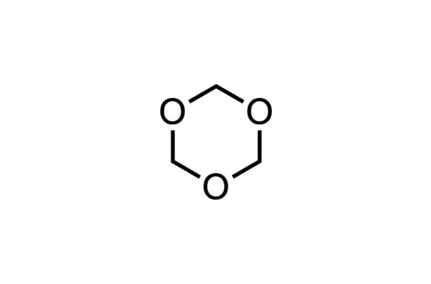 1,3,5-トリオキサンの構造式