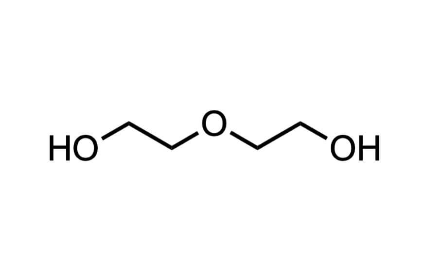 ジエチレングリコールの構造式