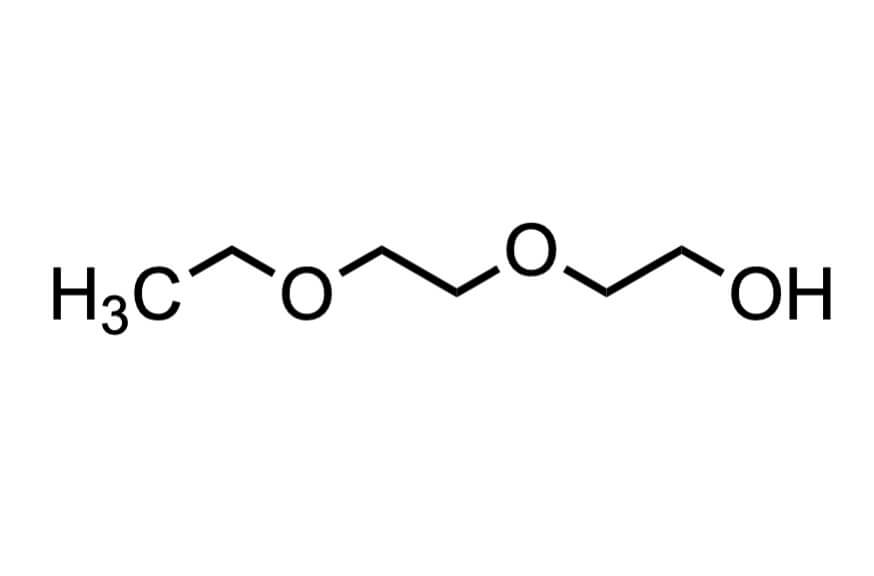 ジエチレングリコールモノエチルエーテルの構造式