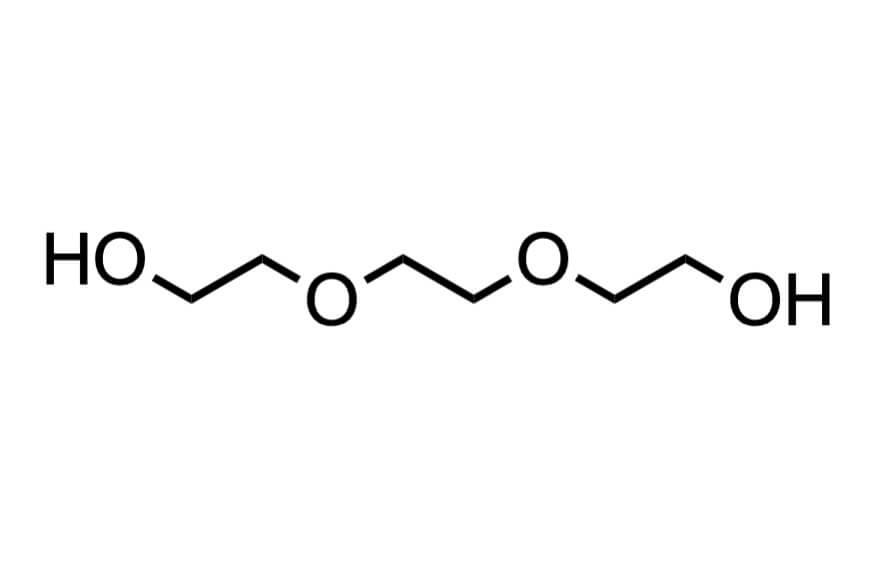 トリエチレングリコールの構造式