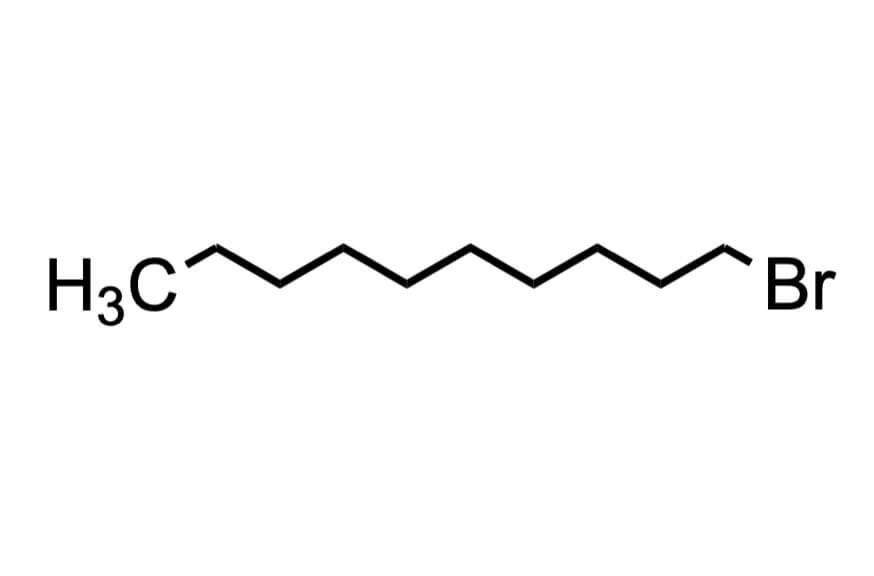 1-ブロモデカンの構造式