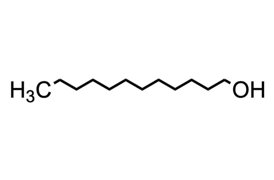 1-ドデカノールの構造式