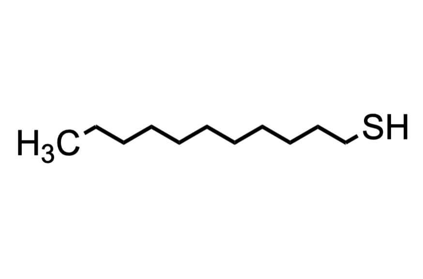 1-ドデカンチオールの構造式