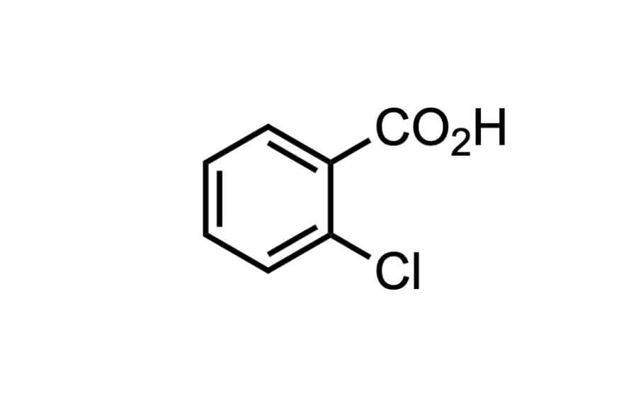 2-クロロ安息香酸の構造式