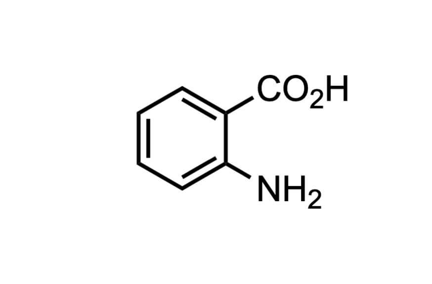 アントラニル酸の構造式