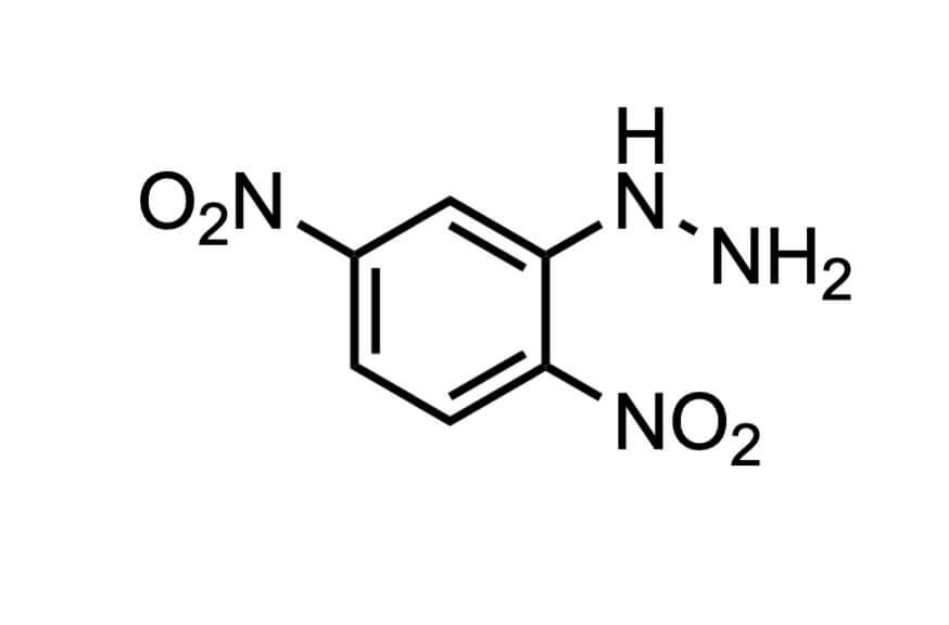 2,4-ジニトロフェニルヒドラジンの構造式