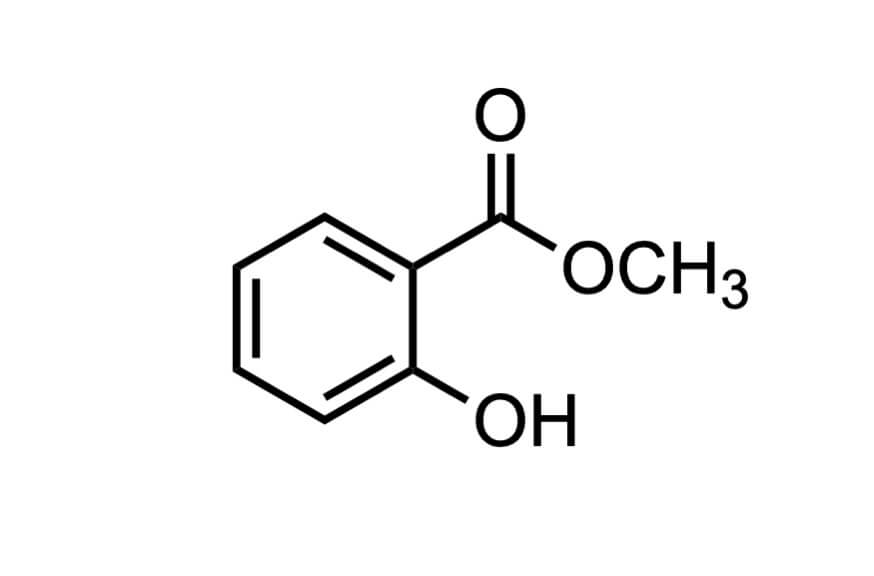 サリチル酸メチルの構造式