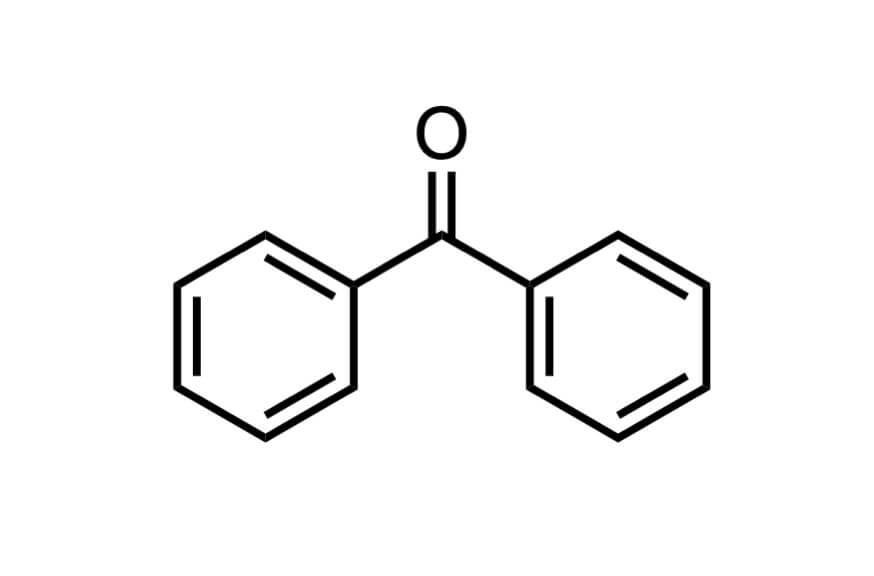 ベンゾフェノンの構造式