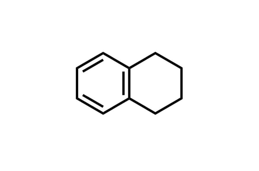 1,2,3,4-テトラヒドロナフタレンの構造式