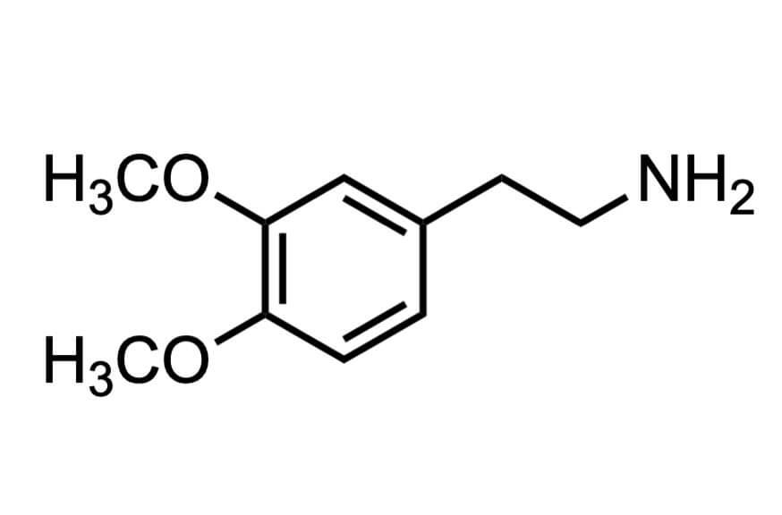 ホモベラトリルアミンの構造式