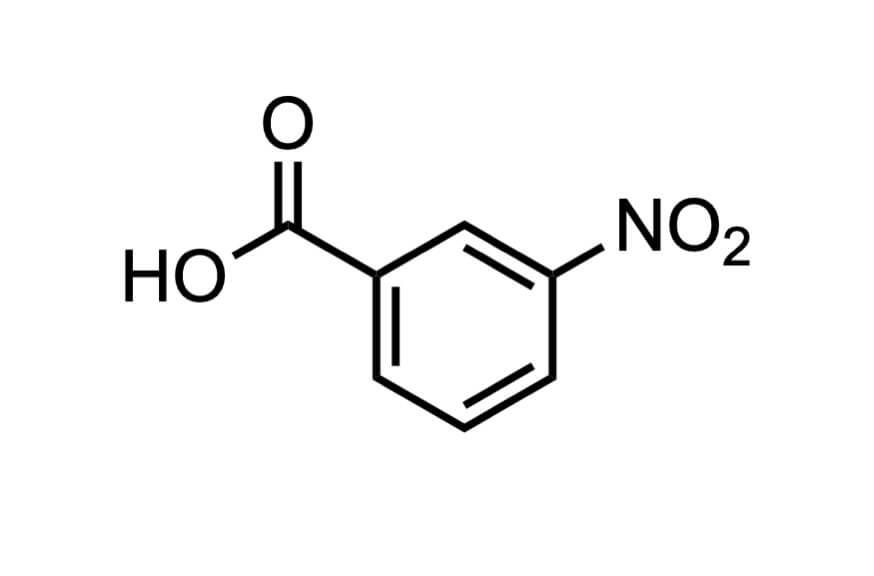 3-ニトロ安息香酸の構造式