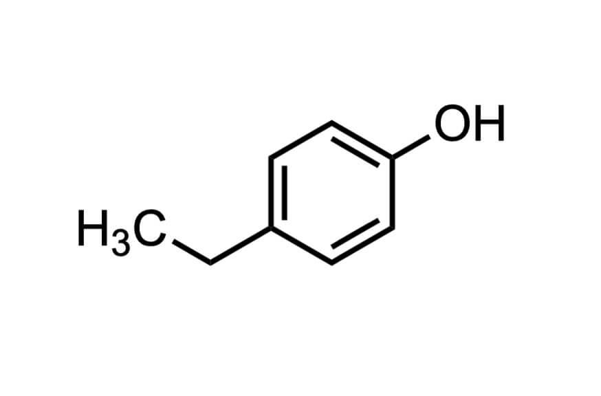 4-エチルフェノールの構造式