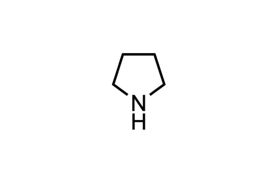 ピロリジンの構造式