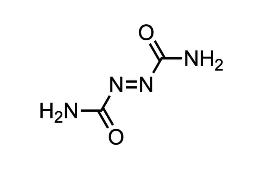 アゾジカルボンアミドの構造式