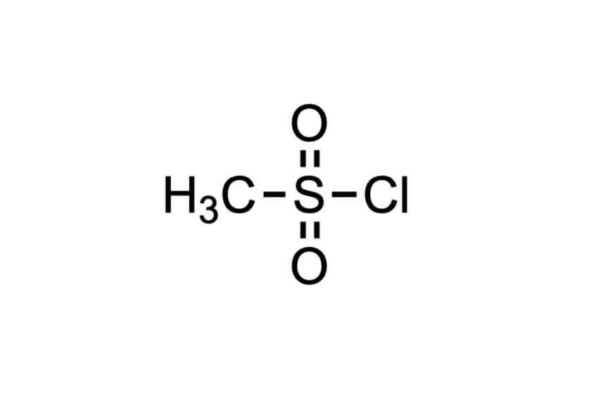 メタンスルホニルクロリドの構造式