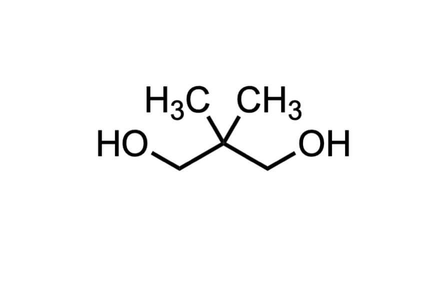 2,2-ジメチル-1,3-プロパンジオールの構造式