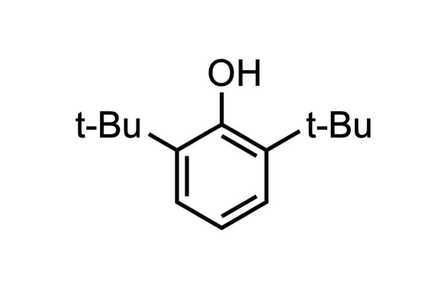 2,6-ジ-tert-ブチルフェノールの構造式