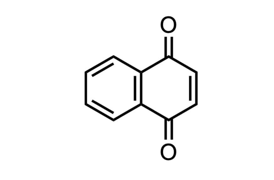 1,4-ナフトキノンの構造式