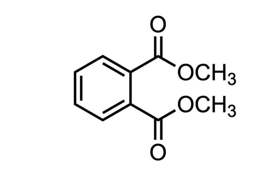 フタル酸ジメチルの構造式