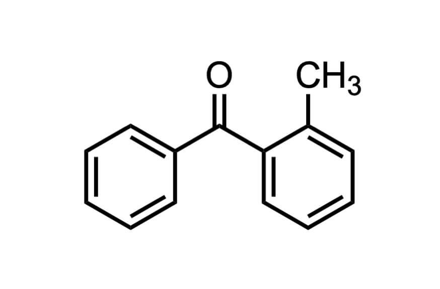 2-メチルベンゾフェノンの構造式