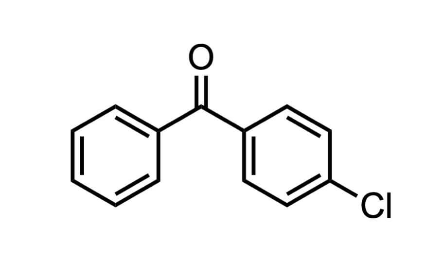 4-クロロベンゾフェノンの構造式