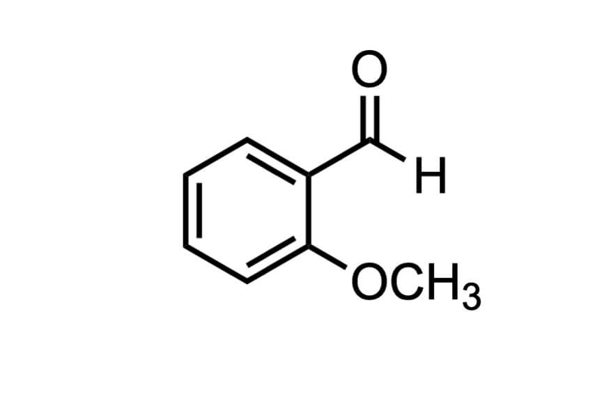 o-アニスアルデヒドの構造式