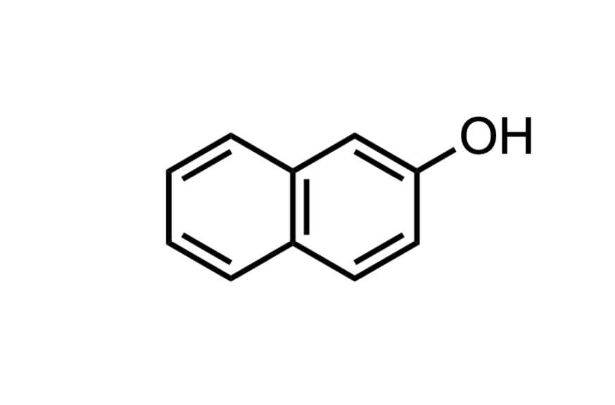2-ナフトールの構造式