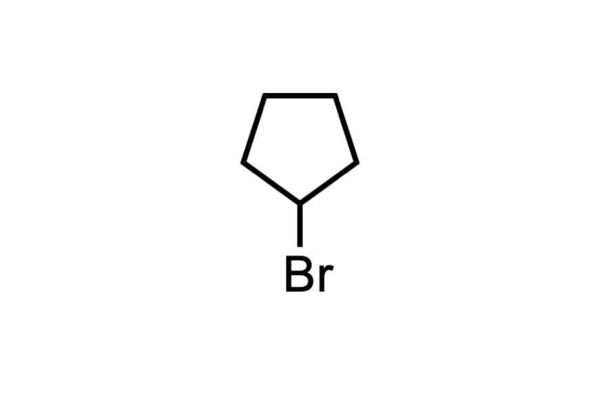 ブロモシクロペンタンの構造式