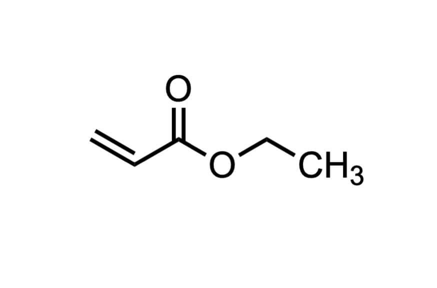 アクリル酸エチルの構造式