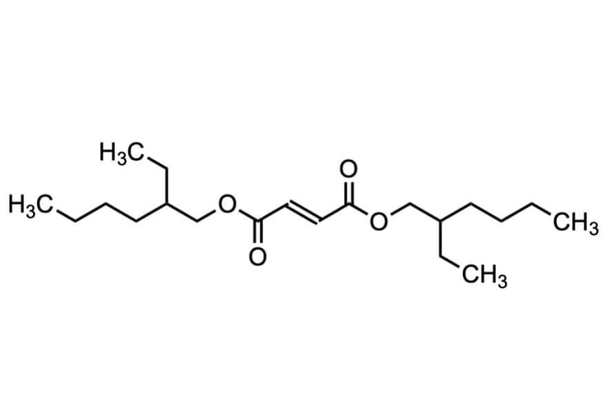 フマル酸ビス(2-エチルヘキシル)の構造式