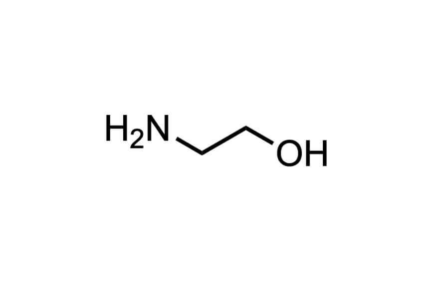 2-アミノエタノールの構造式