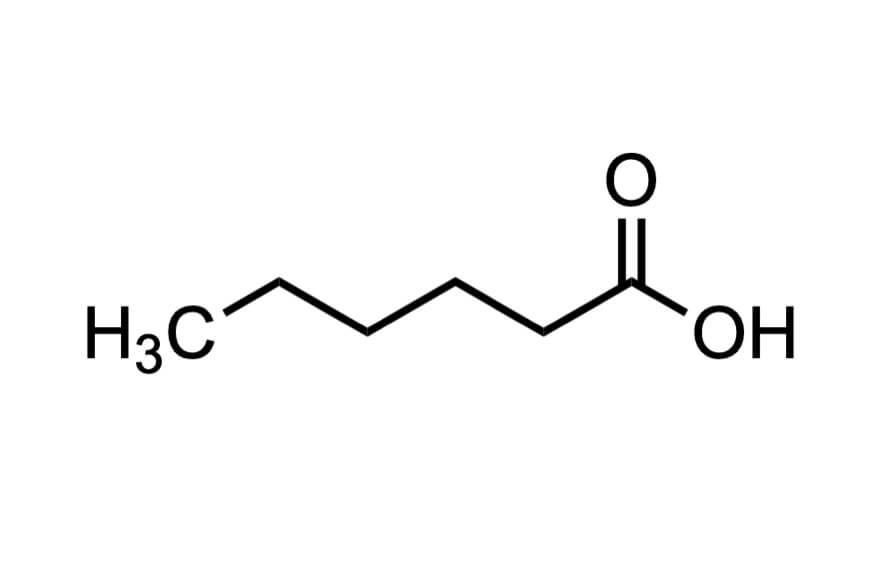 ヘキサン酸の構造式