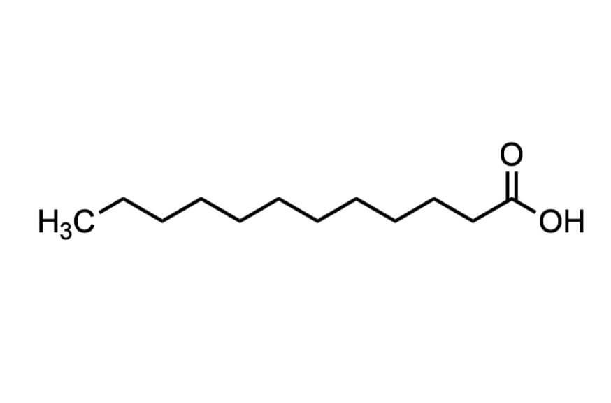 ラウリン酸の構造式