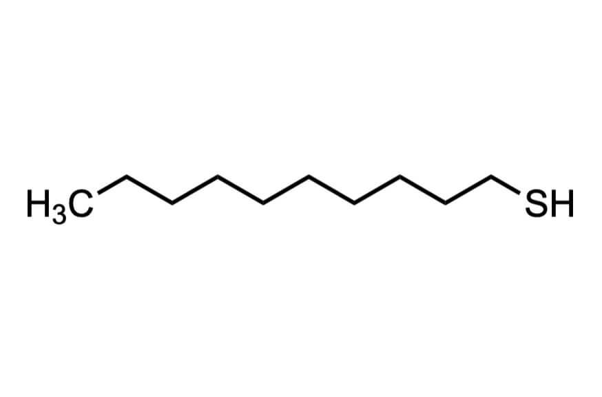1-デカンチオールの構造式
