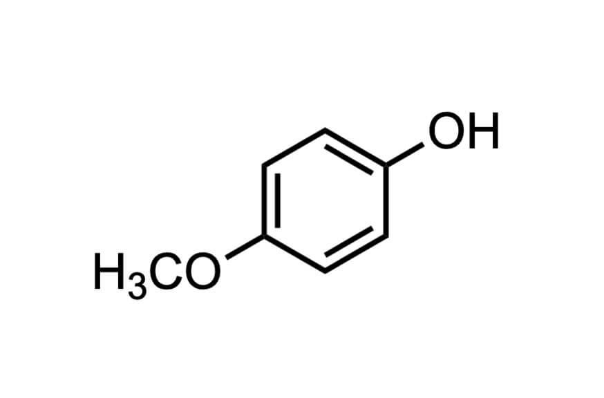 4-メトキシフェノールの構造式