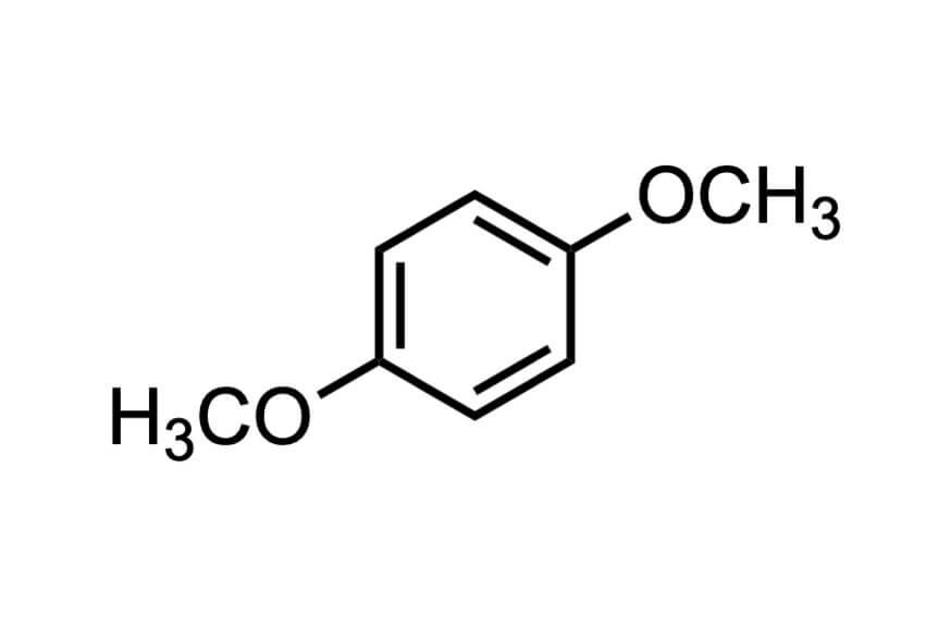 1,4-ジメトキシベンゼンの構造式