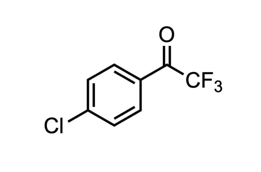 4'-クロロ-2,2,2-トリフルオロアセトフェノンの構造式
