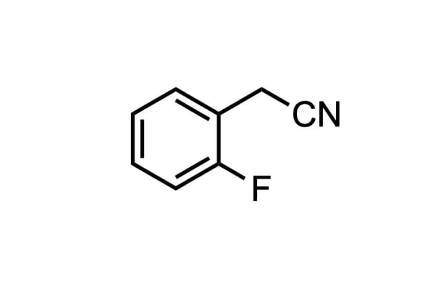 2-フルオロベンジルシアニドの構造式