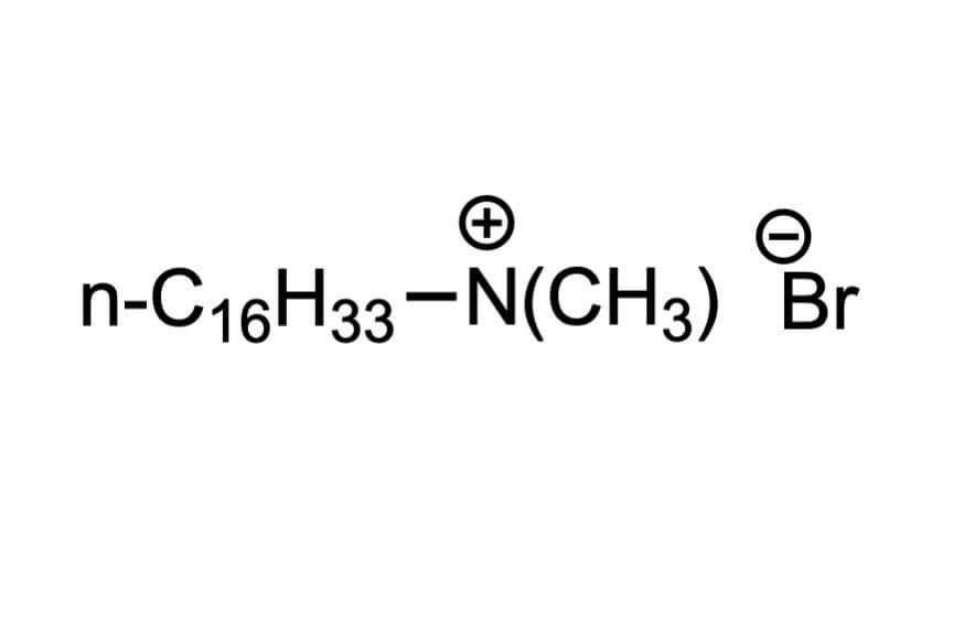 ヘキサデシルトリメチルアンモニウムブロミドの構造式