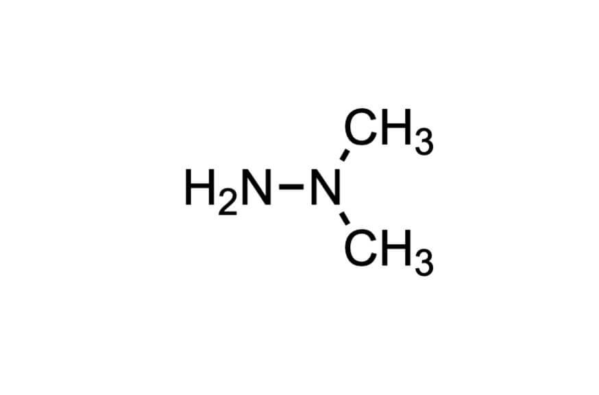 1,1-ジメチルヒドラジンの構造式