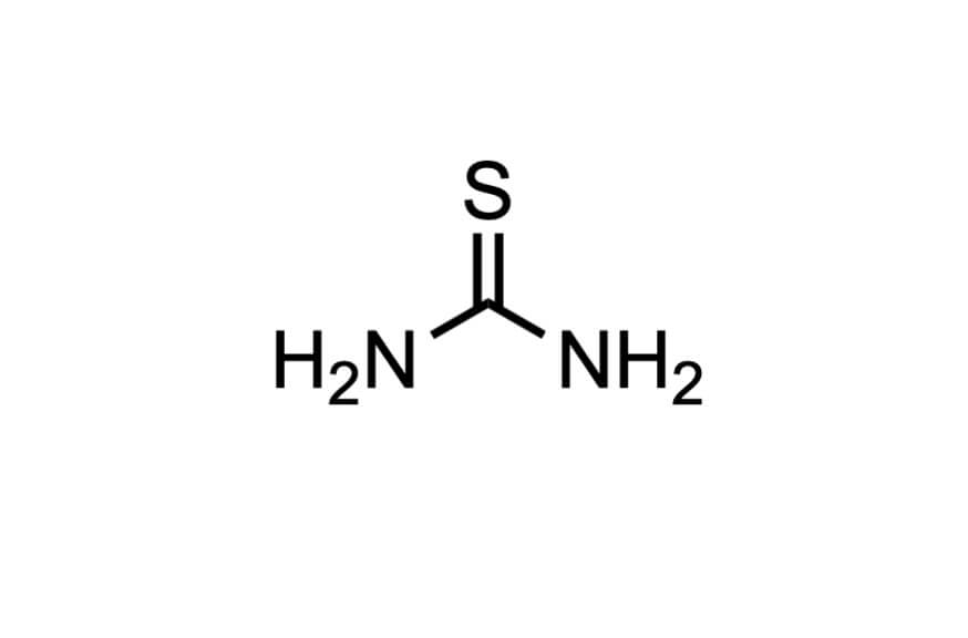 チオ尿素の構造式