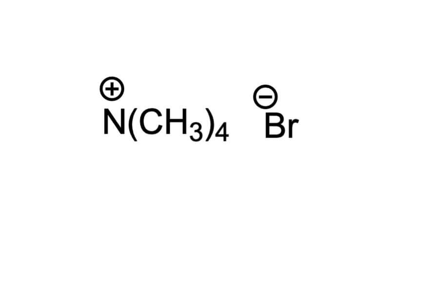 テトラメチルアンモニウムブロミドの構造式