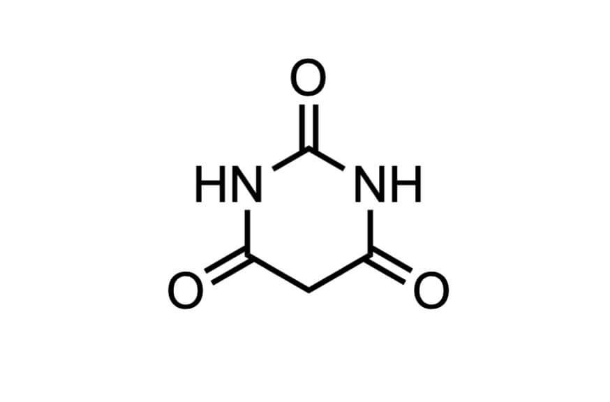 バルビツル酸の構造式