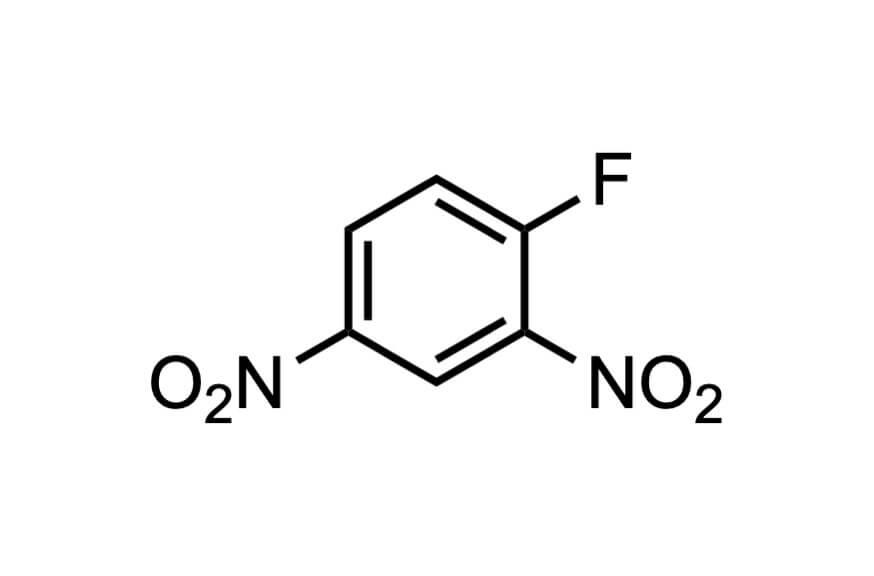 2,4-ジニトロフルオロベンゼンの構造式
